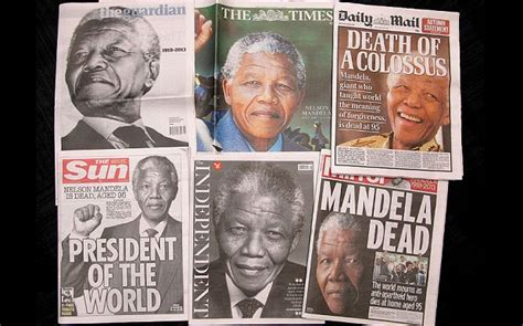 Nelson Mandela death: the world's front pages   Telegraph