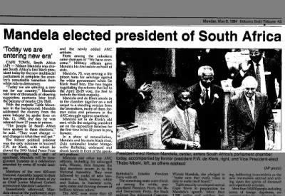 Nelson Mandela   Fishwrap The official blog of Newspapers.com