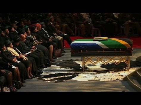 Nelson Mandela funeral farewell in Qunu   YouTube