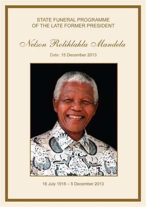 Nelson Mandela Funeral Program, cover. Download Full ...
