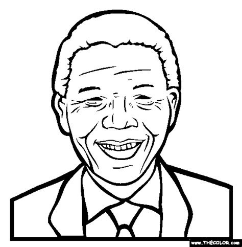 Nelson Mandela.gif  554×565  | Coloring pages, Online ...