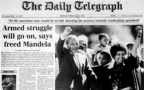 Nelson Mandela: How The Telegraph s front pages covered ...