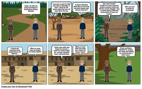 Nelson Mandela Human Rights Storyboard by 7d67381a