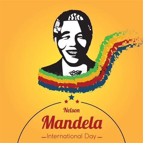 Nelson Mandela International Day, 18 July. Stock Vector ...