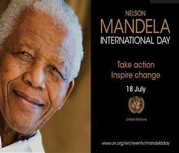 Nelson Mandela International Day 2020   Saturday July 18, 2020