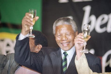 Nelson Mandela is elected South Africa's president in 1994 ...