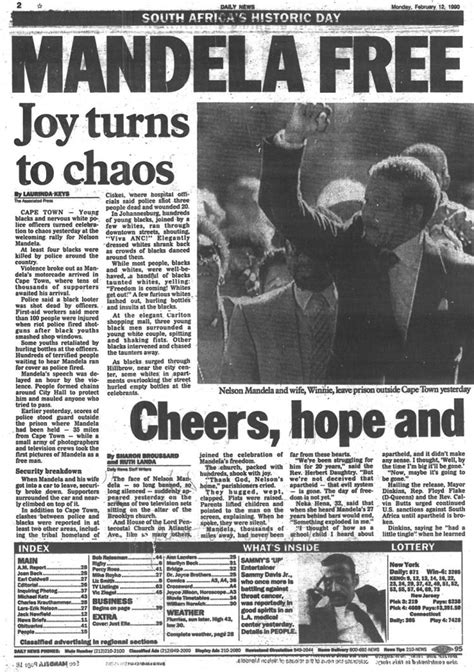 Nelson Mandela is released from prison in 1990   NY Daily News