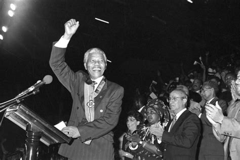 NELSON MANDELA: July 21, 1991:  This is the happiest day ...