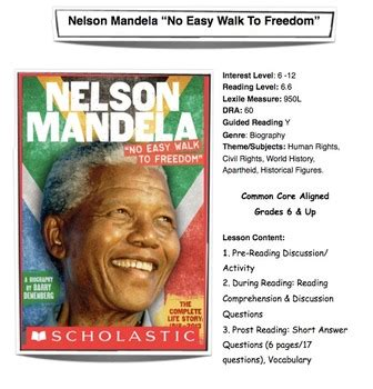 Nelson Mandela  No Easy Walk To Freedom  Lesson Plan ...