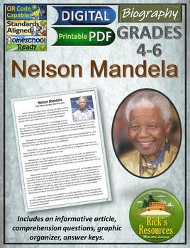 Nelson Mandela Reading Comprehension by Rick s Resources | TpT