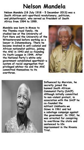 Nelson Mandela Reading Comprehension | Teaching Resources