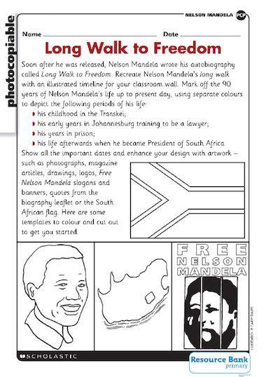 Nelson Mandela – biography – Primary KS2 teaching resource ...