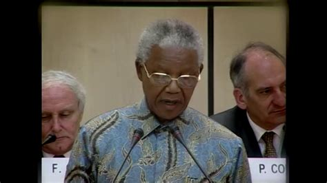 Nelson Mandela speech at the WTO   1998   YouTube