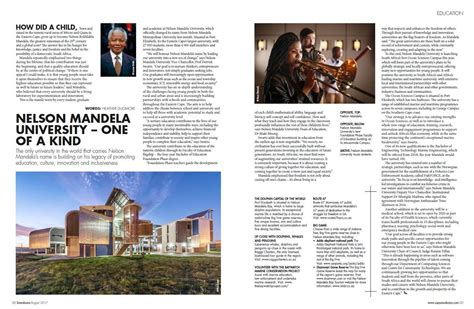 Nelson Mandela University   one of a kind