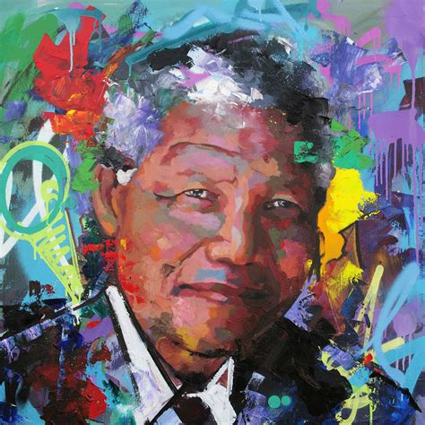Nelson Mandela Vi Painting by Richard Day