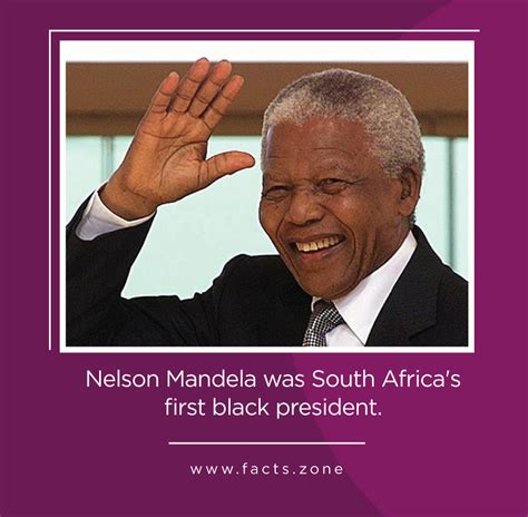 Nelson Mandela was South Africa s first black president ...