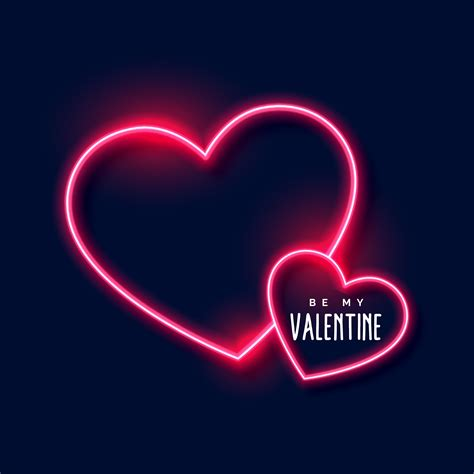neon hearts background for valentines day   Download Free ...