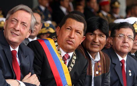 Néstor Kirchner con Chavez, Morales y Duarte | Qué.es