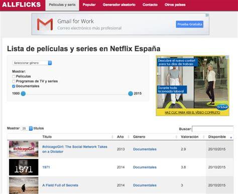 Netflix: Listado con todas las películas, series y ...