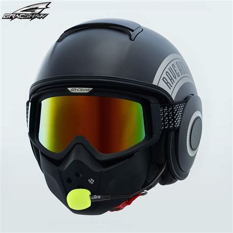 New Arrival Retro Motorcycle Helmet with Mask goggle ...