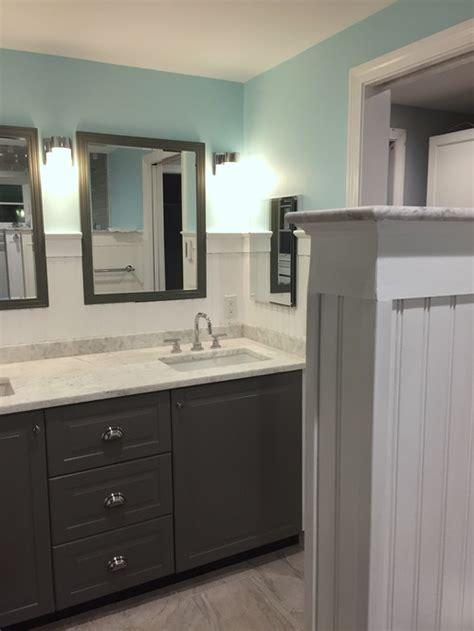 New bath w ikea Sektion cabinets  image heavy