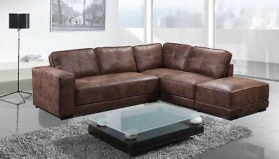 New Cheap Carlton Large Tan Leather Corner Sofa With ...