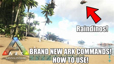 NEW CRAZY ARK ADMIN COMMANDS!  How to Use    RAINDINOS ...