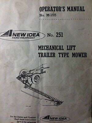 New Idea Mechanical Trailer type Sickle Bar Mower no. 251 ...