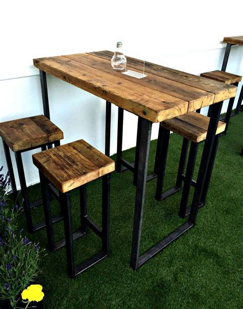 New Industrial High Table With Thick Wooden Top | Diy ...