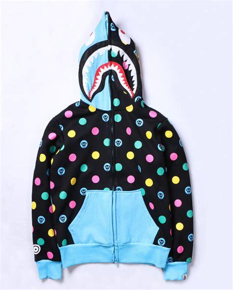 New Japan Men s bape Shark Zip Hoodie Sweater Jacket Ape ...