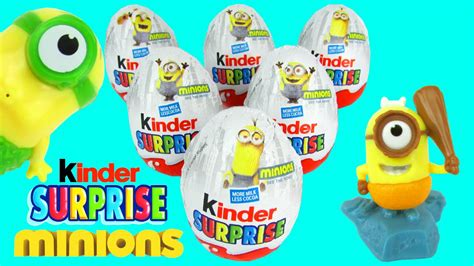 NEW KINDER SURPRISE EGGS MINIONS TOYS COLLECTION KIDS ...