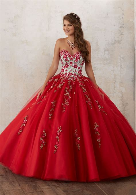 New Noble Beaded Embroidery Quinceanera Dresses Free ...