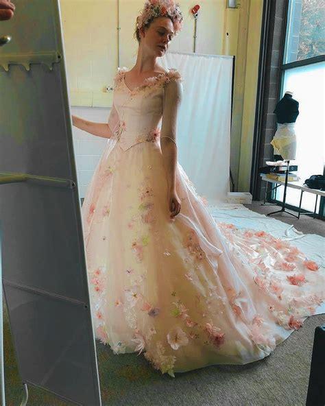 #NEW/OLD    Elle wearing Aurora s wedding dress last year