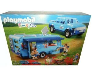 NEW PLAYMOBIL FAMILY FUN SET 9502 PARK PICKUP WITH CAMPER ...