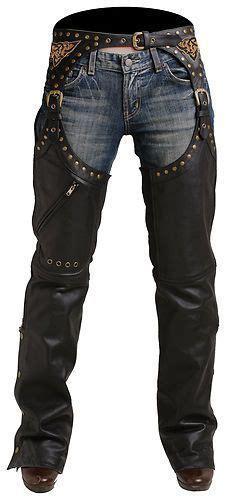 New Pokerun Womens Marilyn 2 0 Leather Chaps Black Large ...