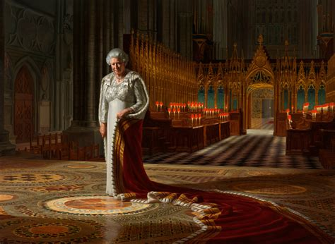New portrait of Queen Elizabeth II unveiled | South China ...