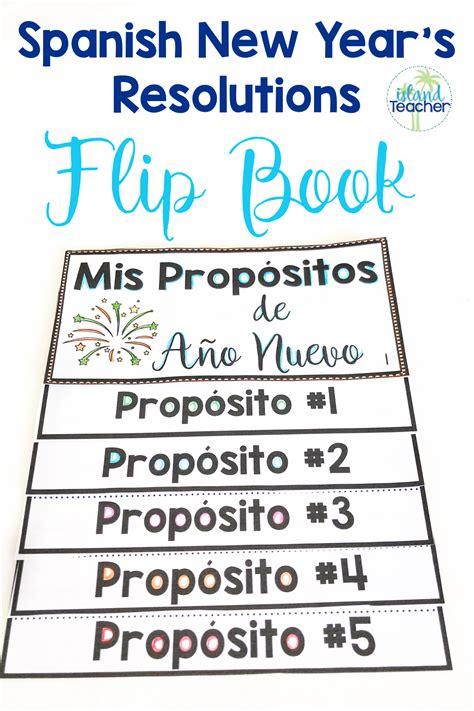 New Year s 2020 Resolutions Spanish Writing Flip Book ...