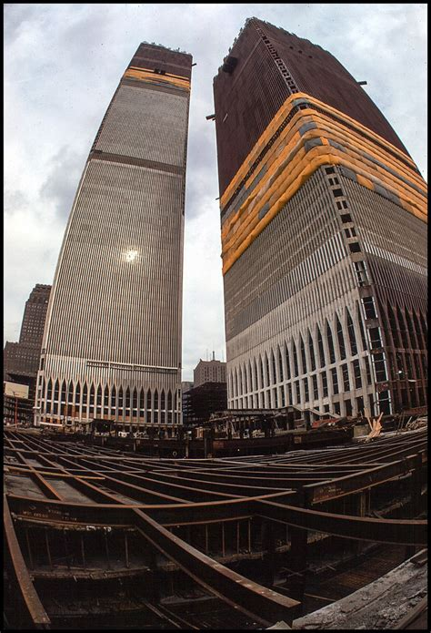 New York 1970, construction of the twin towers | scan from ...