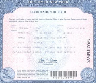New York Birth Certificate   printable birthday certificates