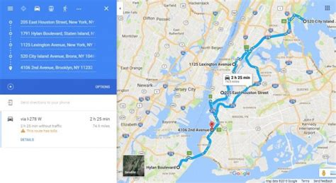 New York Route Planner: NYC Driving Routes | MyRouteOnline