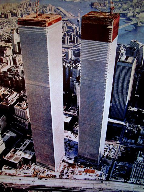 New York, World Trade Center under construction, July 1973 ...