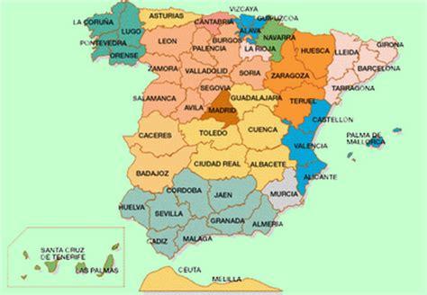 news tourism world: Mapa Politico de España