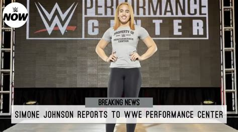 News: WWE Officially Signs Simone Johnson The Daughter Of ...