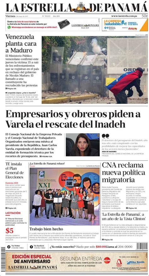 Newspaper La Estrella de Panamá  Panama . Newspapers in ...
