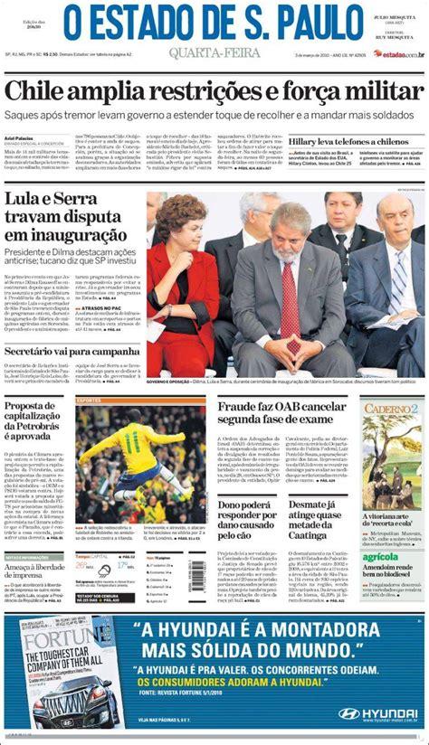 Newspaper O Estado de São Paulo  Brasil . Newspapers in ...