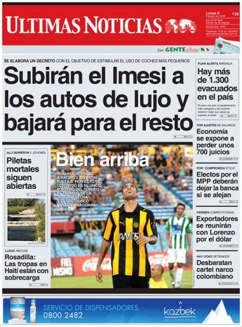 Newspaper Últimas Noticias  Uruguay . Newspapers in ...