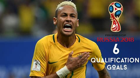 Neymar Jr   All 6 Goals in World Cup Qualification 2018 ...