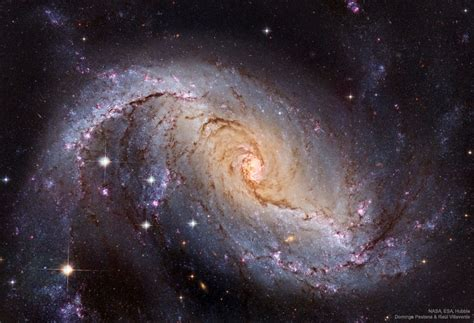 NGC 1672: Barred Spiral Galaxy from Hubble – Route Mars
