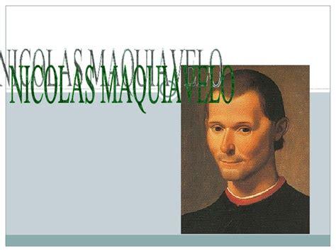 Nicolas Maquiavelo..