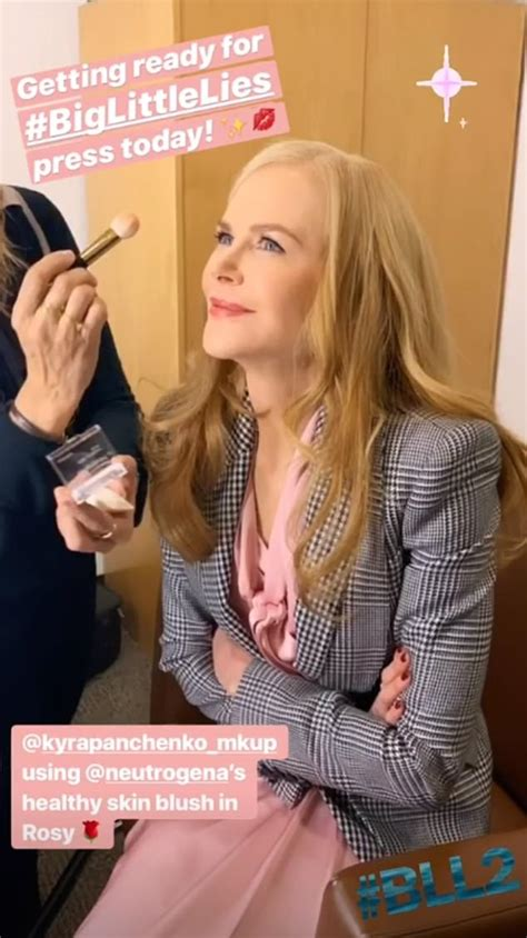 Nicole Kidman shows off flawless skin while joining Big ...